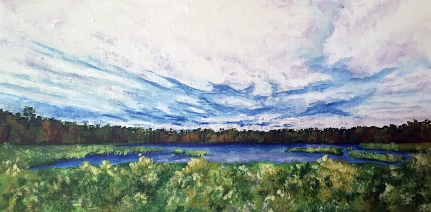 """Southwest Harbor"" original fine art by Nan Johnson"