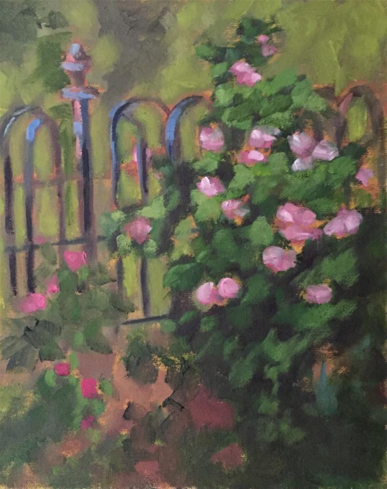 """Rose Garden"" original fine art by Pam Holnback"