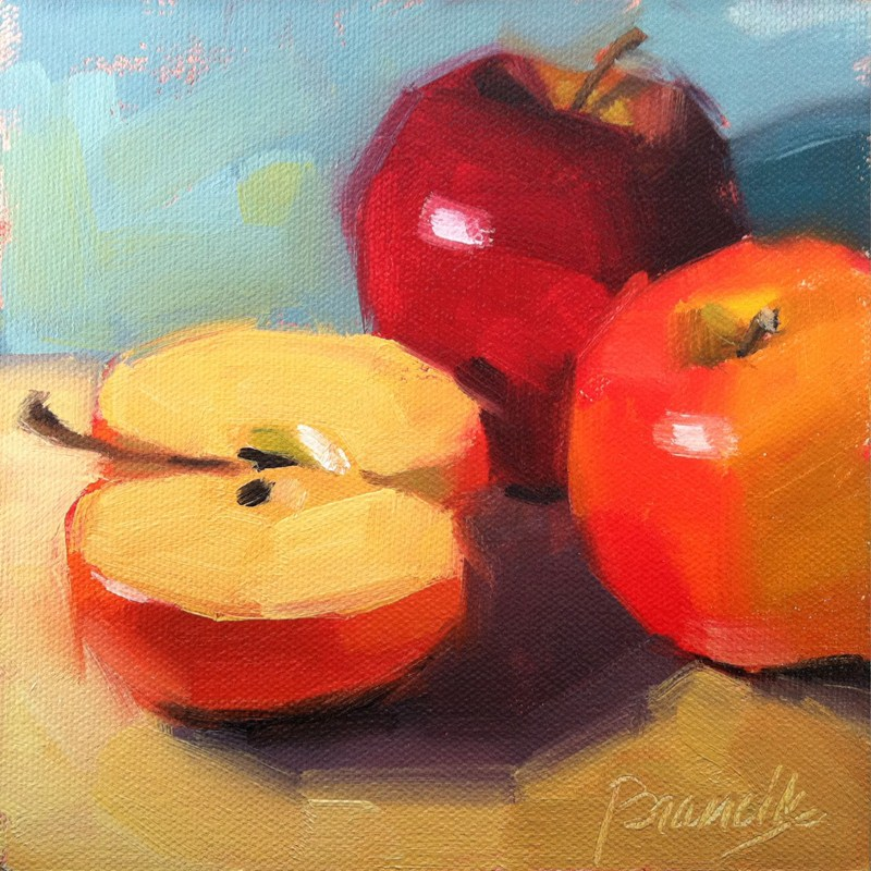 """Two and a Half Apples"" original fine art by Candace Brancik"