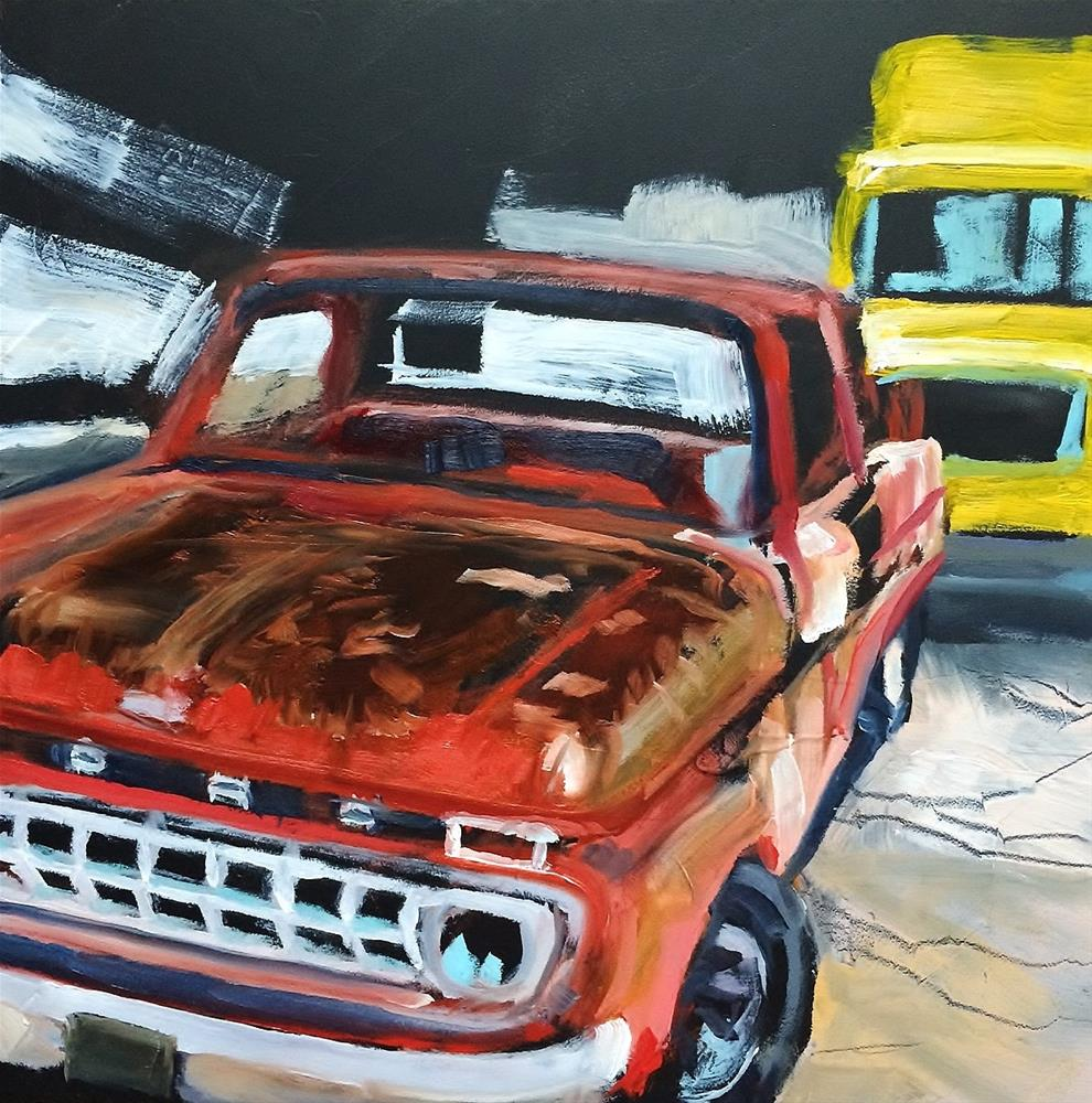 """Rusty Truck"" original fine art by John Tullis"