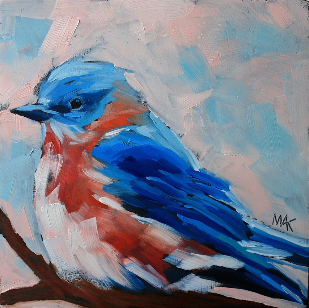 """Bluebird"" original fine art by Mary Anne Cary"