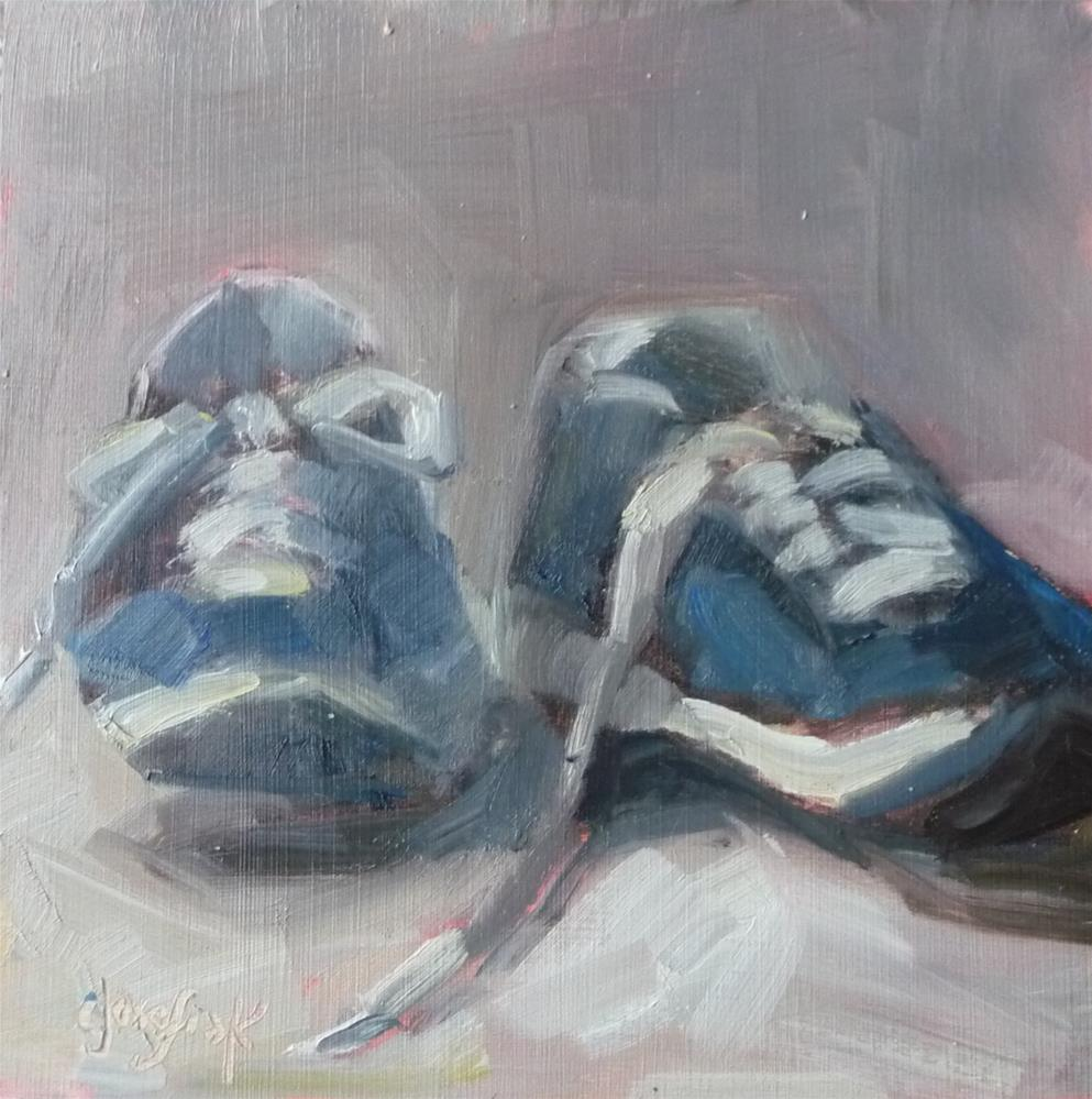 """Soccer Shoes"" original fine art by Carol Josefiak"