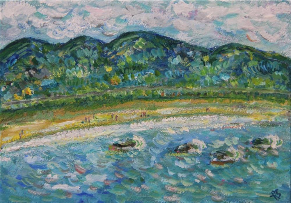 """A Day At The Beach"" original fine art by Roberta Schmidt"