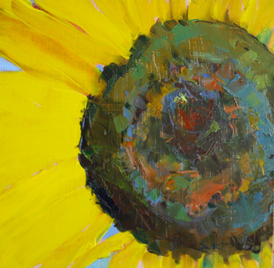 """Sunflower Labyrinth"" original fine art by Pamela Sweet"