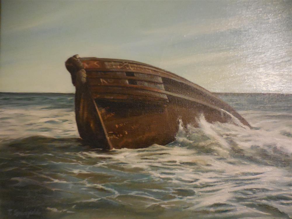 """Shipwreck"" original fine art by Terri Nicholson"