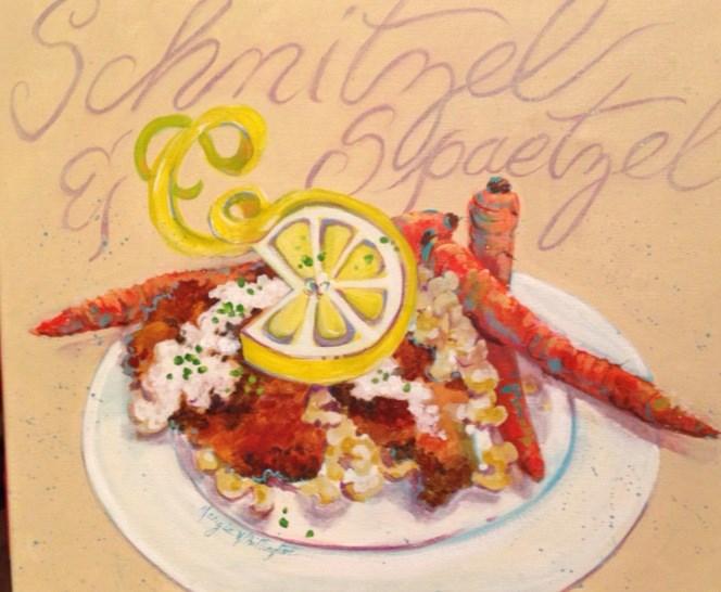"""Dinner"" original fine art by Margie Whittington"
