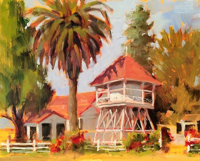 """Mattie's Tavern"" original fine art by Deborah Newman"