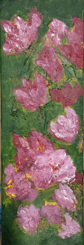 """Abstract Pink Flowers"" original fine art by Donna Vieth"