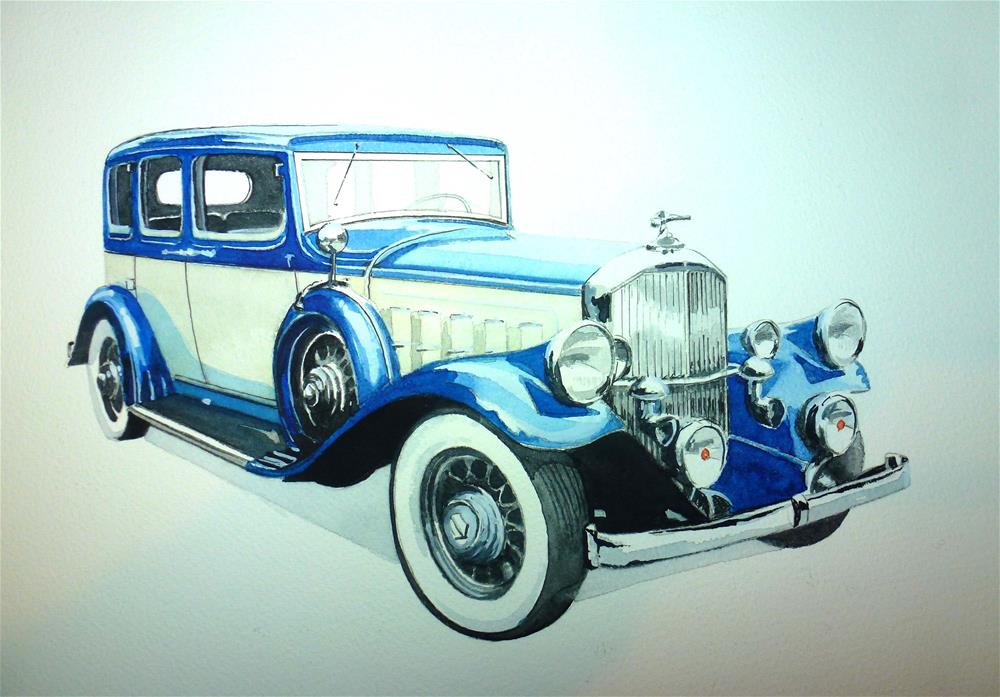 """1932 Pierce Arrow Model 53"" original fine art by John Monney"