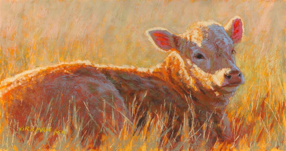 """""""Sunbathing"""" original fine art by Rita Kirkman"""