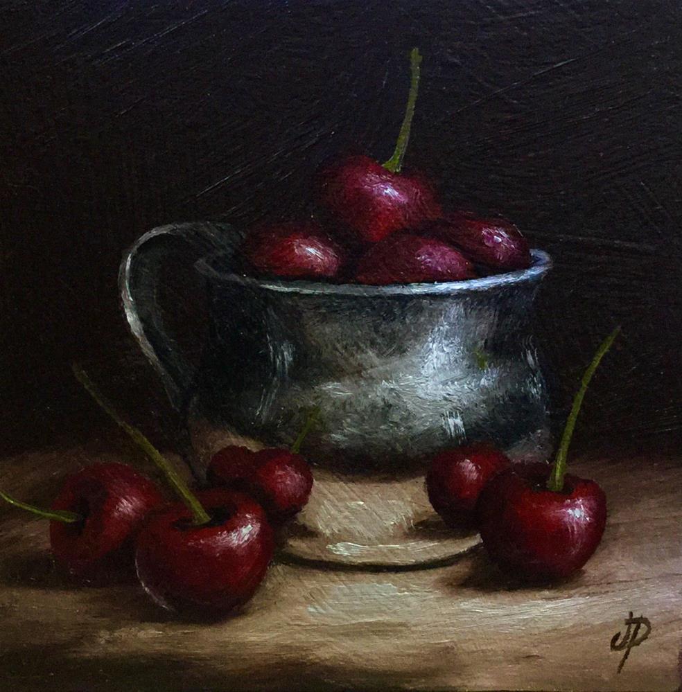 """Cherry cup #8"" original fine art by Jane Palmer"