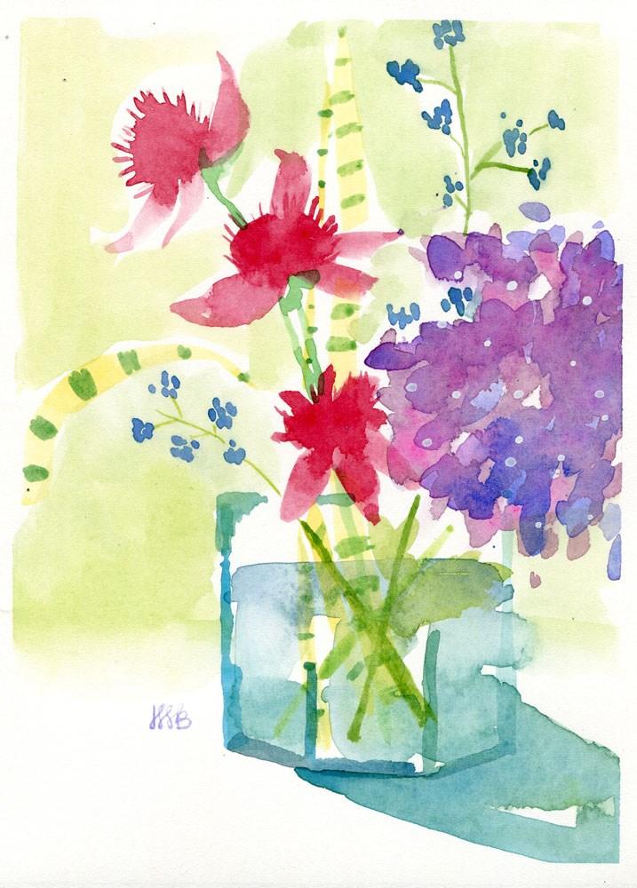 """Red Coneflowers"" original fine art by Heather Bennett"