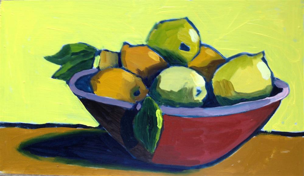 """My Gauguin Fruit Bowl"" original fine art by Pamela Hoffmeister"