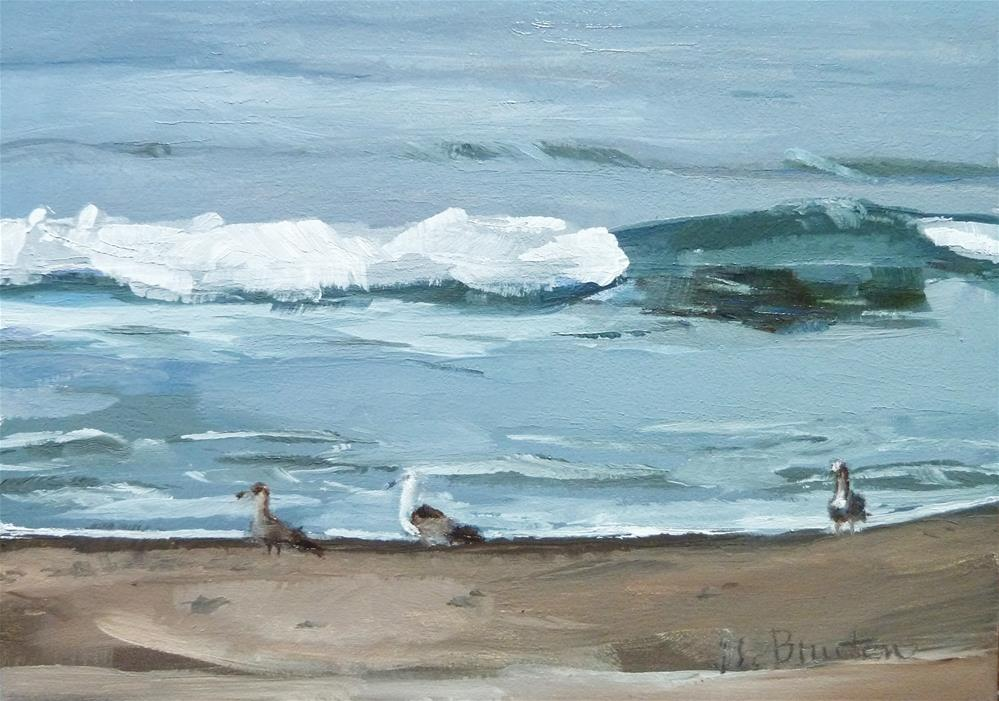 """Gulls"" original fine art by Gary Bruton"