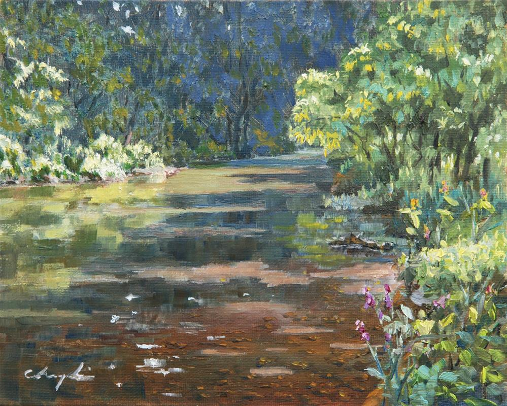 """Shadowed River"" original fine art by Chuang Liu"
