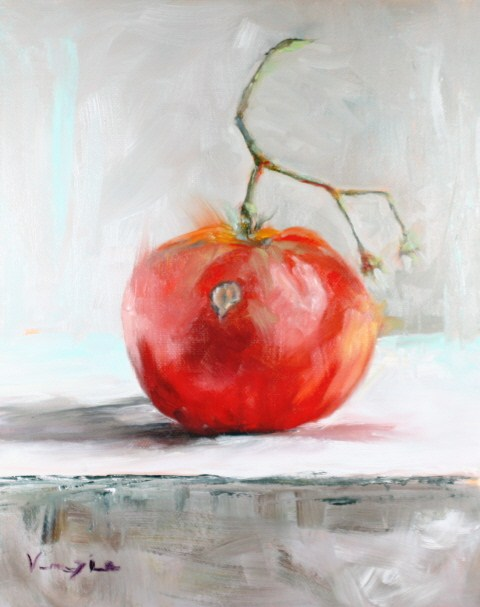"""still life with tomato"" original fine art by Carrie Venezia"