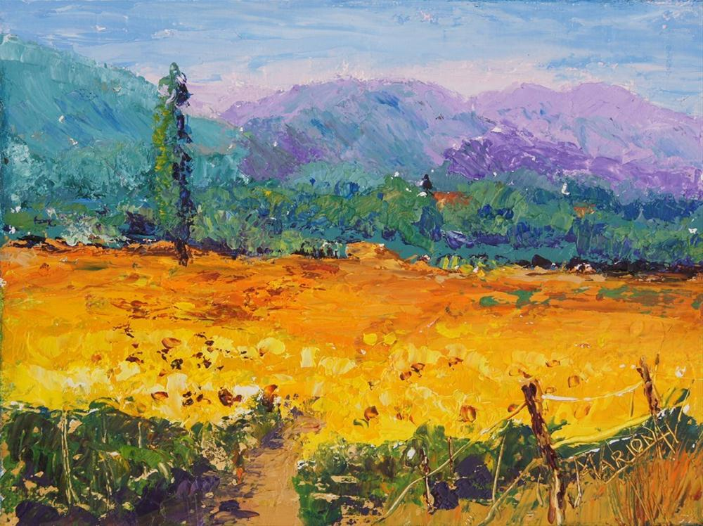 """Sunshine in Provence"" original fine art by Marion Hedger"