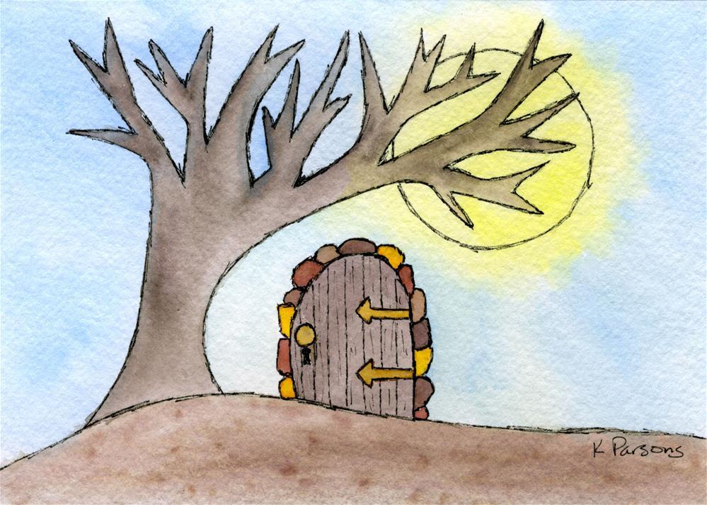 """""""Wonderlandia Door in the Woods"""" original fine art by Kali Parsons"""