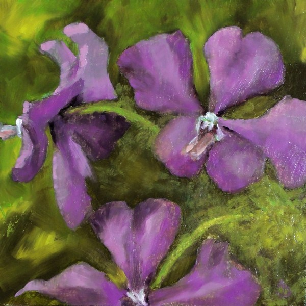 """Purple Heart Orchids II 6x6"" original fine art by Dalan Wells"