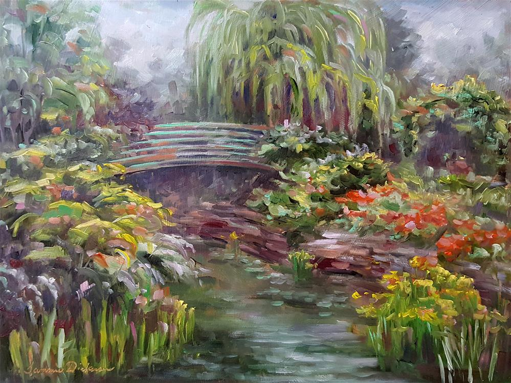 """Dreaming in Monet's Garden"" original fine art by Tammie Dickerson"