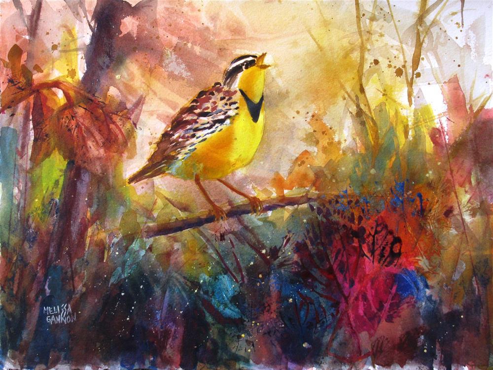 """Singing on a Branch"" original fine art by Melissa Gannon"