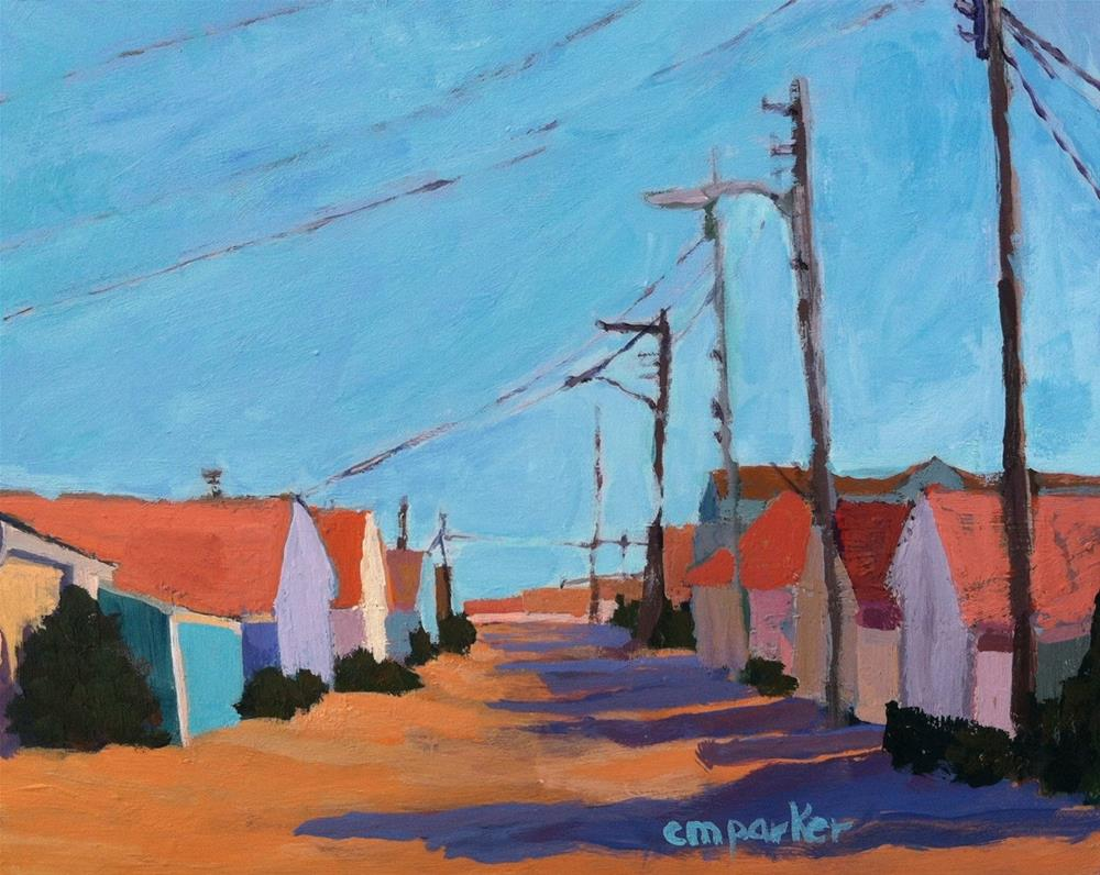 """Beach Cottages 9/6/13"" original fine art by Christine Parker"