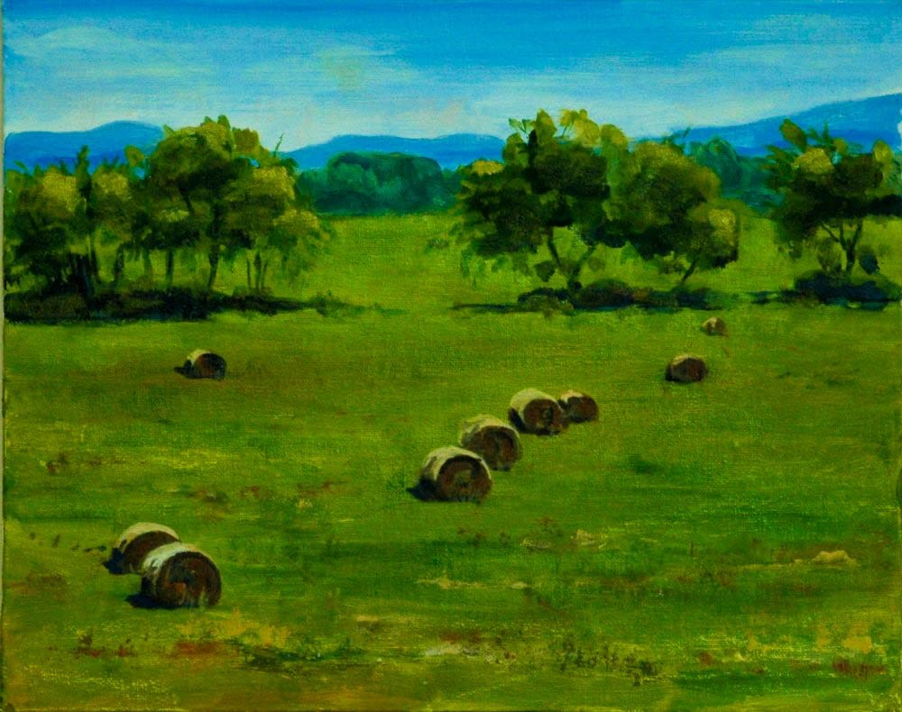 """Chestnut Ridge From Brownfield"" original fine art by Ted Michaelis"