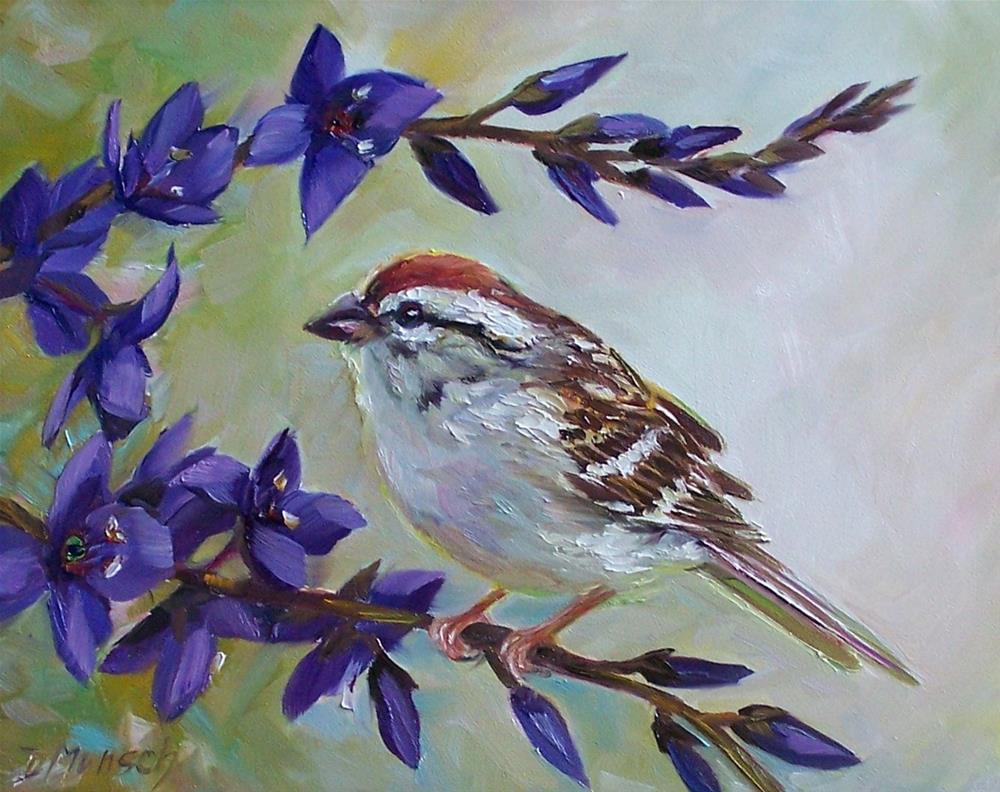 """""""Sparrow"""" original fine art by Donna Munsch"""