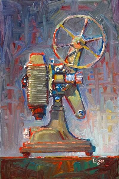 """Scott's Revere 85 8mm Projector"" original fine art by Raymond Logan"