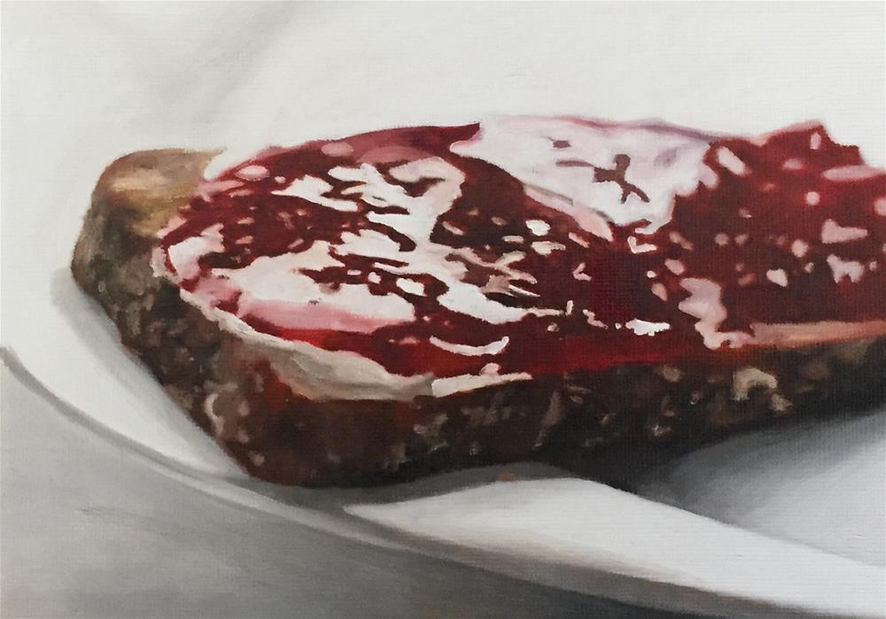 """Jammy Toast"" original fine art by John Cameron"