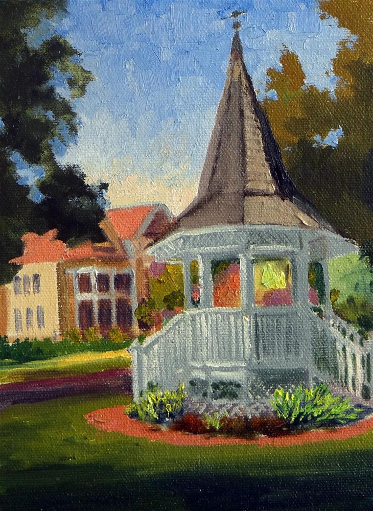 """Heights Boulevard Gazebo"" original fine art by Nancy Paris Pruden"