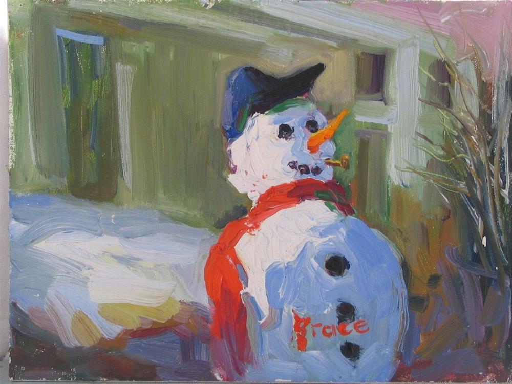 """Happy Man"" original fine art by Rita Brace"