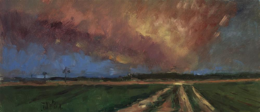 """Track with Pink Sky"" original fine art by Andre Pallat"