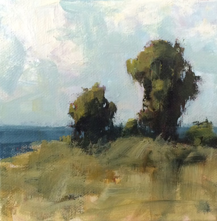 """Hillside View"" original fine art by Shannon Bauer"