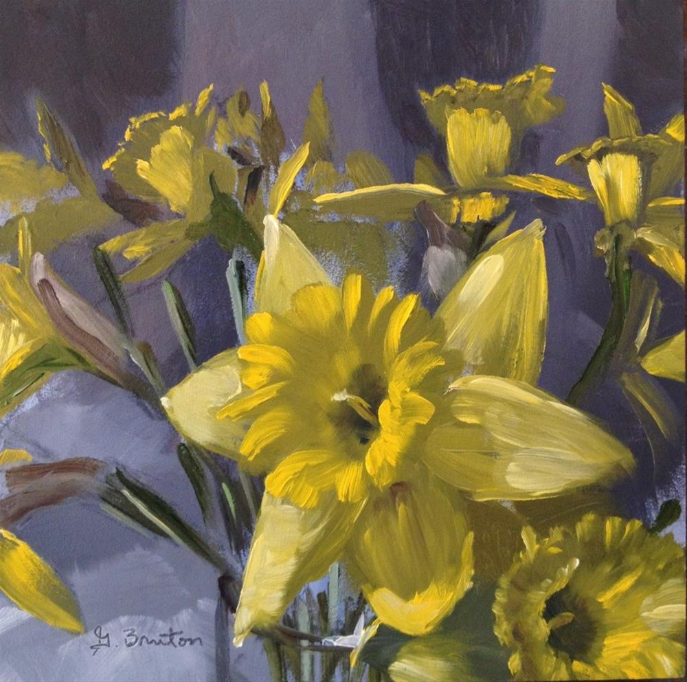 """Daffodil Bunch"" original fine art by Gary Bruton"