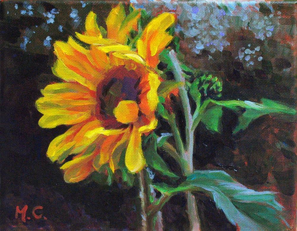 """""""Sunflower"""" original fine art by Michelle chen"""