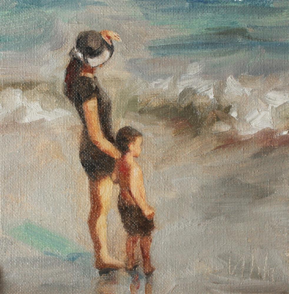 """Seaside"" original fine art by Yuehua He"