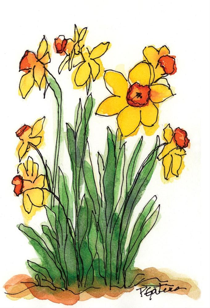 """JB's Daffodils"" original fine art by Pamela Gatens"