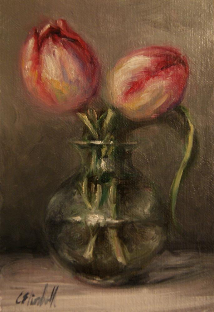 """""""Tulips Still Life"""" original fine art by Carolina Elizabeth"""