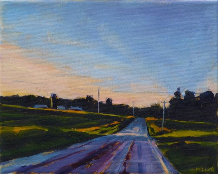 """Late Summer Evening, Michigan"" original fine art by Jessica Miller"