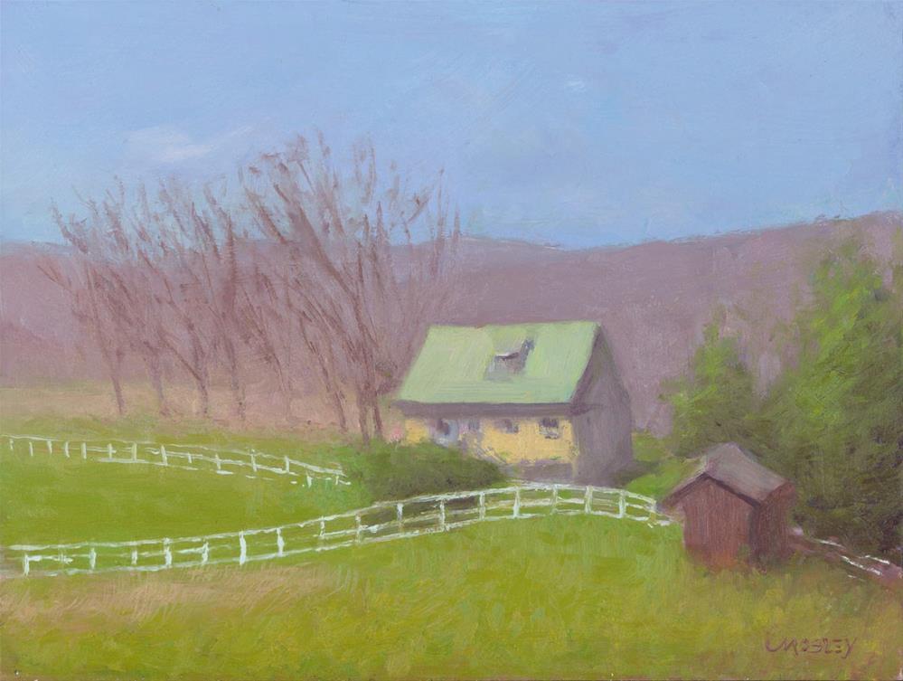 """House in Brewster"" original fine art by Walter Lynn Mosley"