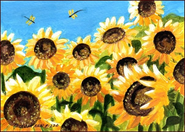 """The Sunflower Field"" original fine art by Patricia Ann Rizzo"
