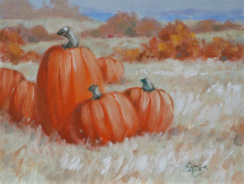 """""""Last of the Pumpkins"""" original fine art by Linda Eades Blackburn"""