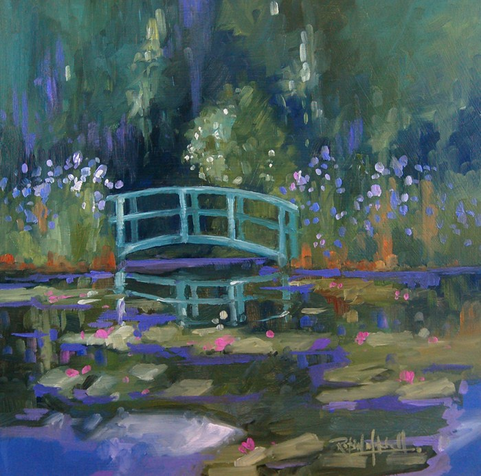 """No 452 The Foot Bridge No2"" original fine art by Robin J Mitchell"