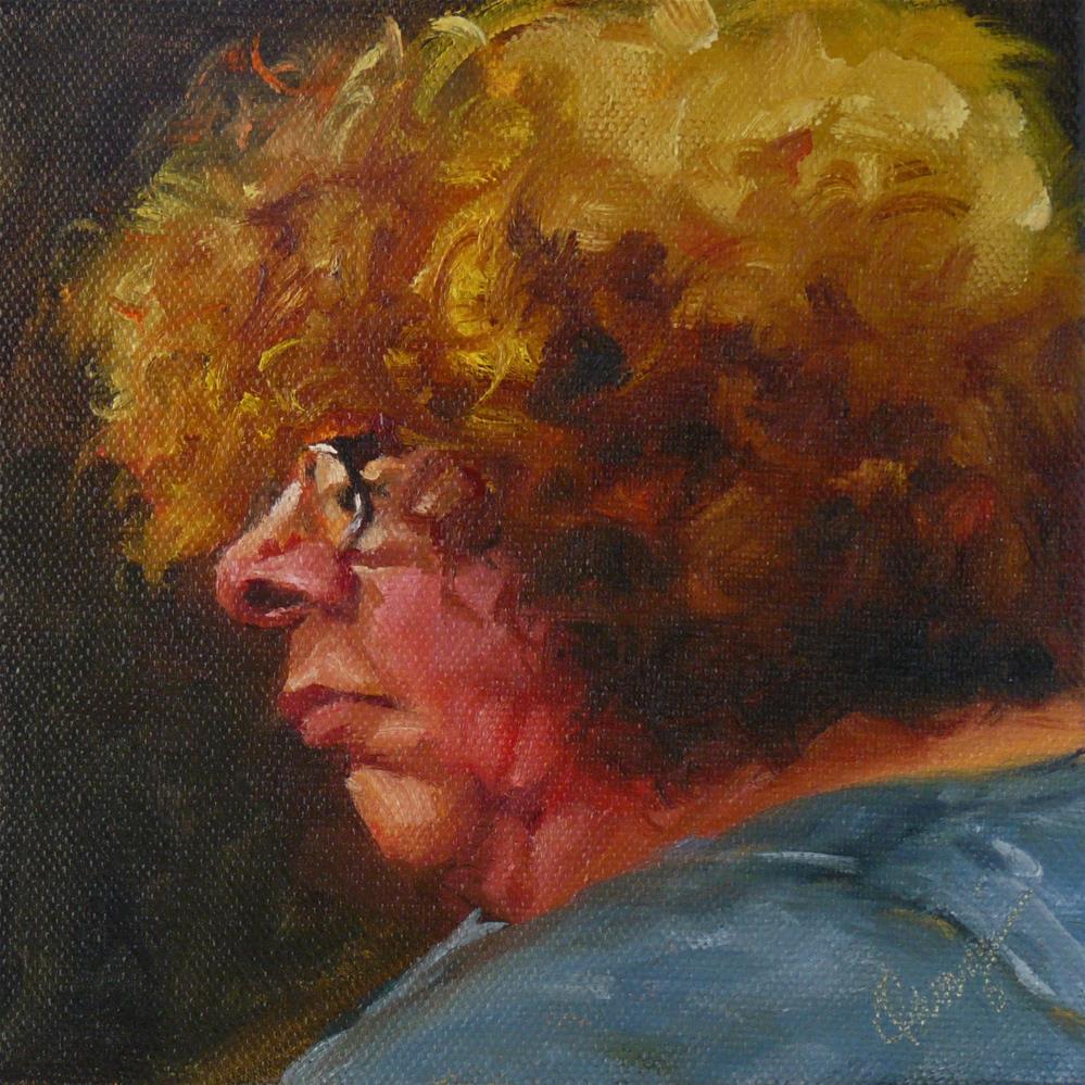 """""""Listen #2"""" original fine art by Sharman Owings"""