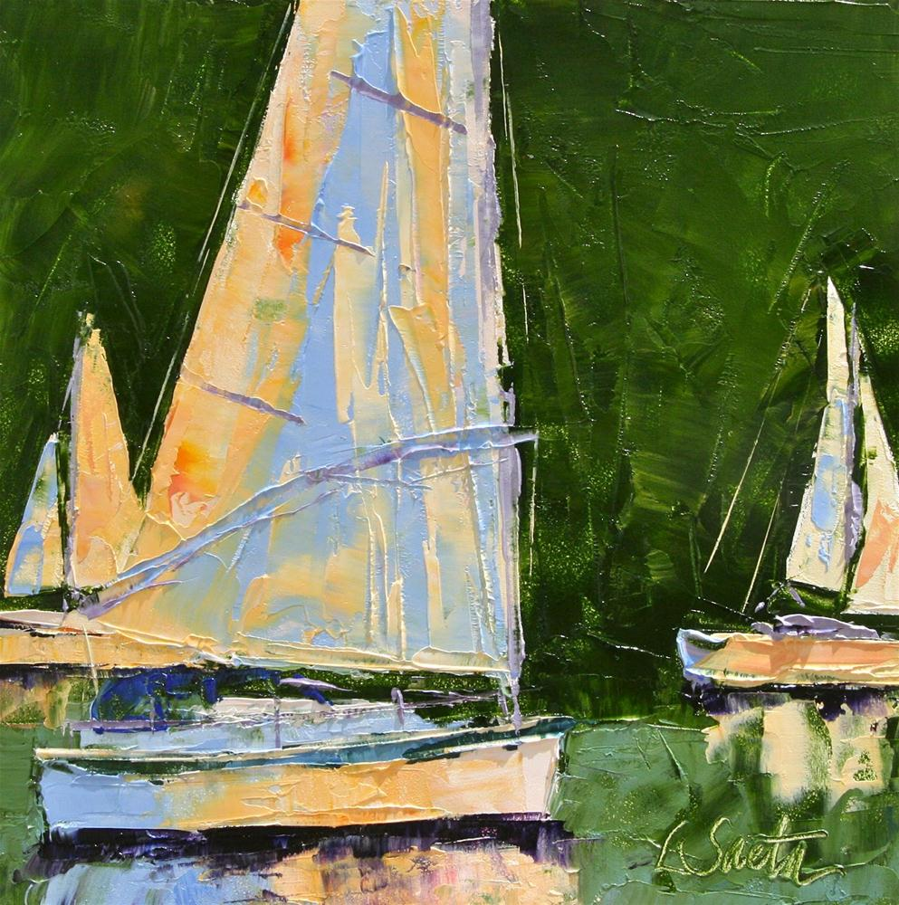 """Sailing Right On By"" original fine art by Leslie Saeta"