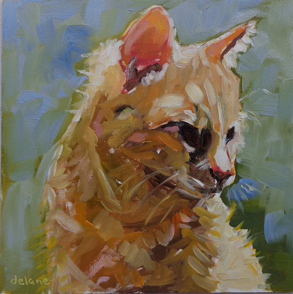 """IS THAT A MOUSE?"" original fine art by Jean Delaney"