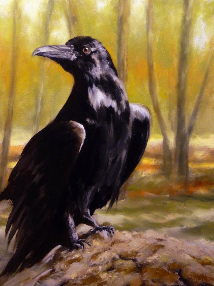 """The Raven"" original fine art by Dalan Wells"
