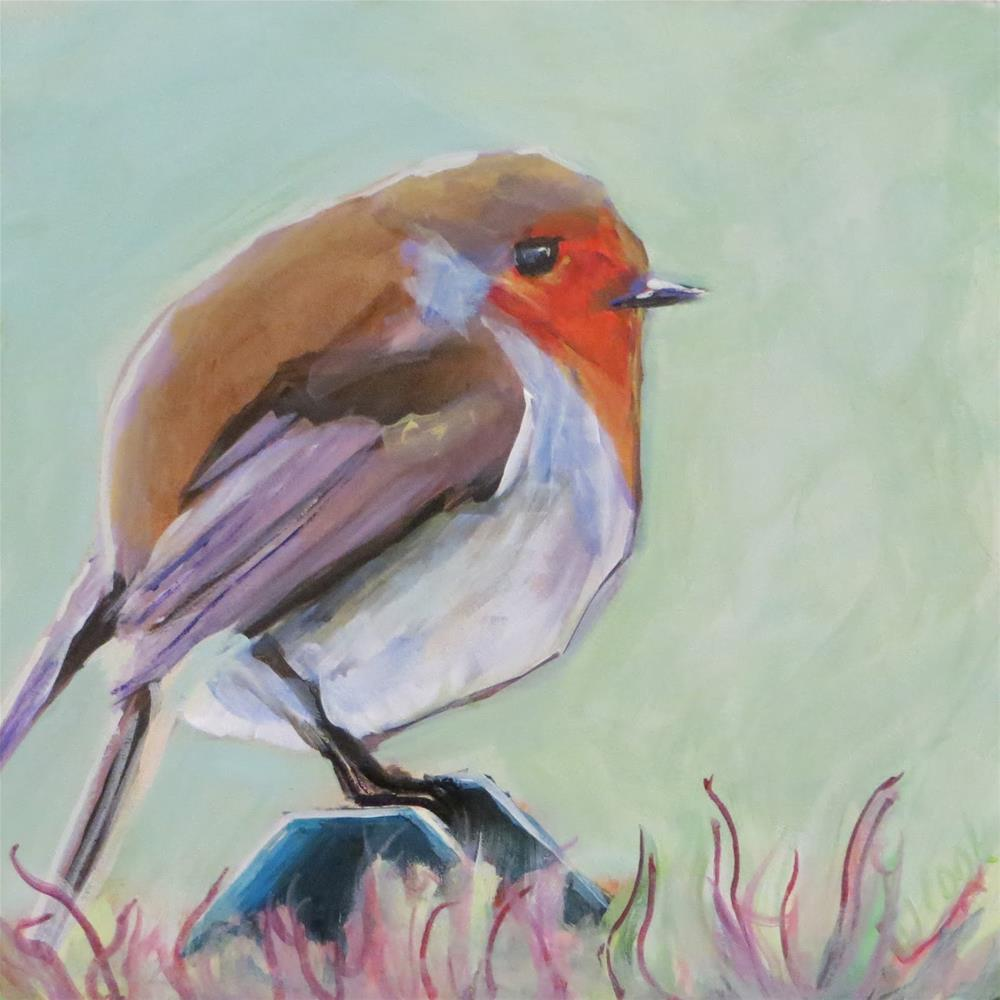 """Birdie 1"" original fine art by Janice Cook"