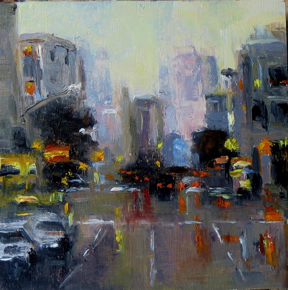"""Cityscape 5 Early Morning"" original fine art by Astrid Buchhammer"